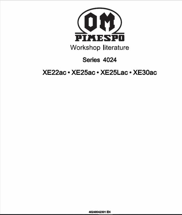 OM Pimespo XE22ac, XE25ac, XE25Lac, XE30ac Forklift Workshop Manual