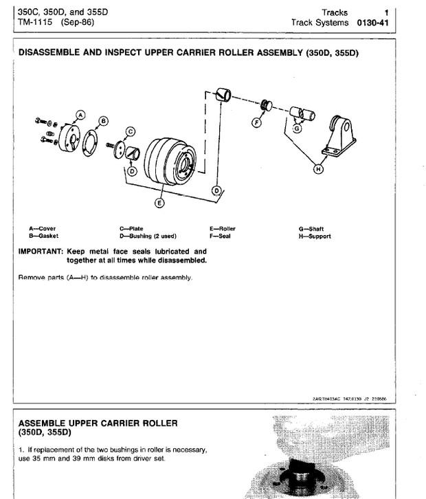 John Deere 350C & 350D Crawler Tractor and Loaders Technical Manual TM-1115