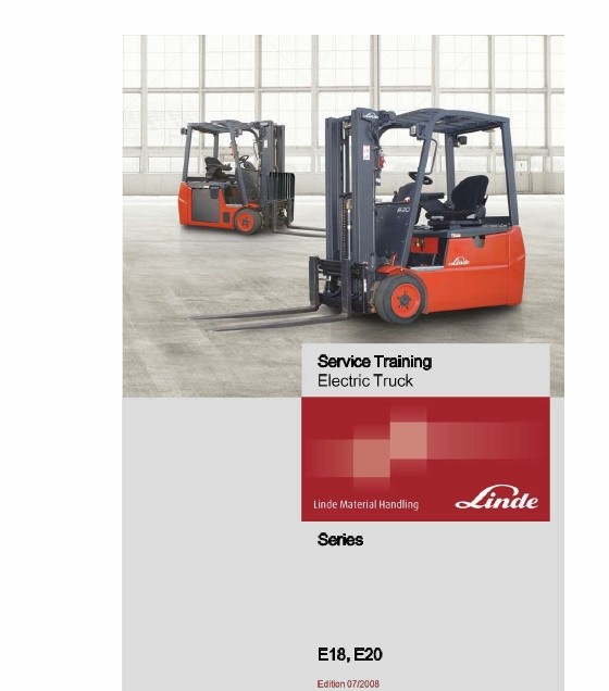 Linde Electric Forklift Truck 346 Series E18 E20 E20 The