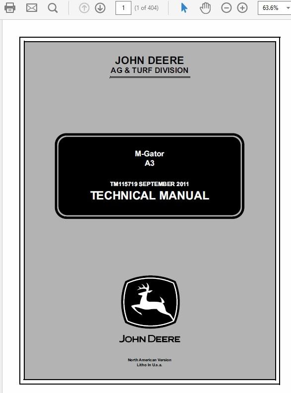 John Deere A3 Technical Manual TM-115719