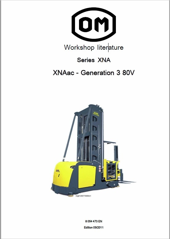 OM Pimespo XNA ac – Generation 3 80v Side Loader Workshop Repair Manual