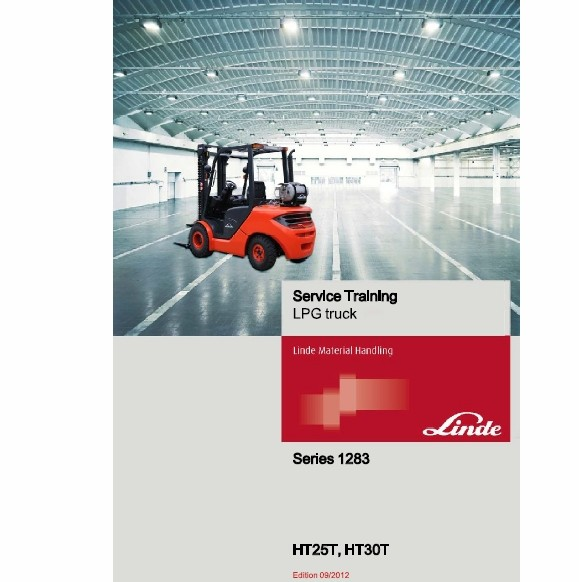 Linde Diesel Forklift Truck Series 1283: HT25D HT25Ts HT30D HT30Ts Service Training Operating manual