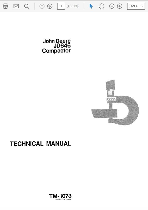 John Deere 646 Compactor Technical Manual TM-1073