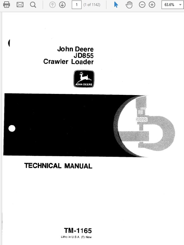 John Deere 855 Crawler Loader Technical Manual TM-1165
