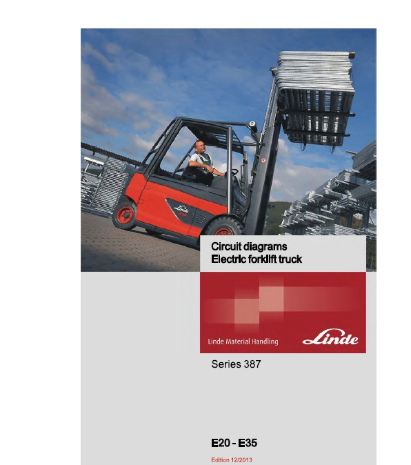 fork lift electric motor wiring diagram linde electric lift truck 387 series e20  e25  e30  e3 the  lift truck 387 series e20  e25  e30