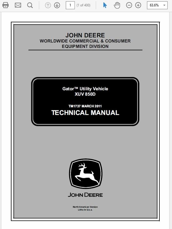 John Deere 260 and 270 Skid Steer Loader Technical Ma - The Repair Manual  Sellfy