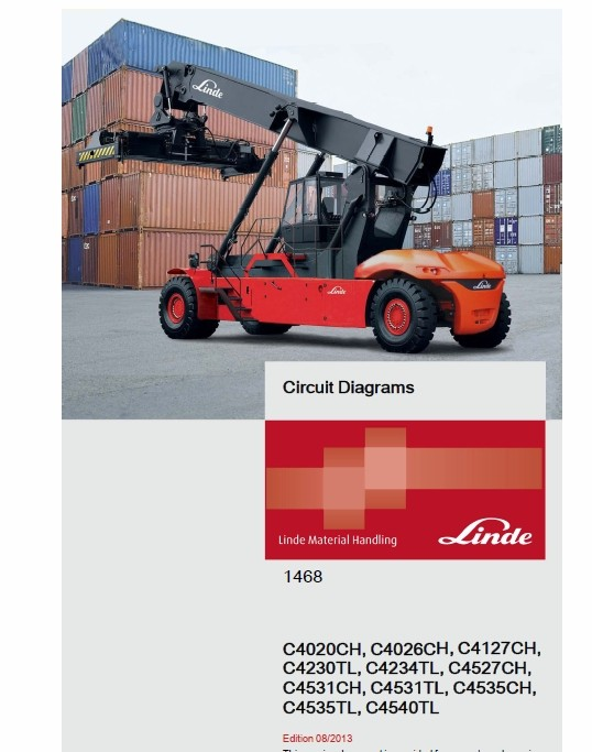 Linde Rechstacker H1468 Series: C4020-4535CH, C4230-4540 TL Service Training Manual