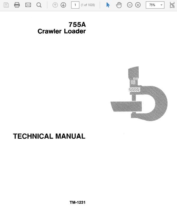 John Deere 755A Crawler Loader Technical Manual TM-1231