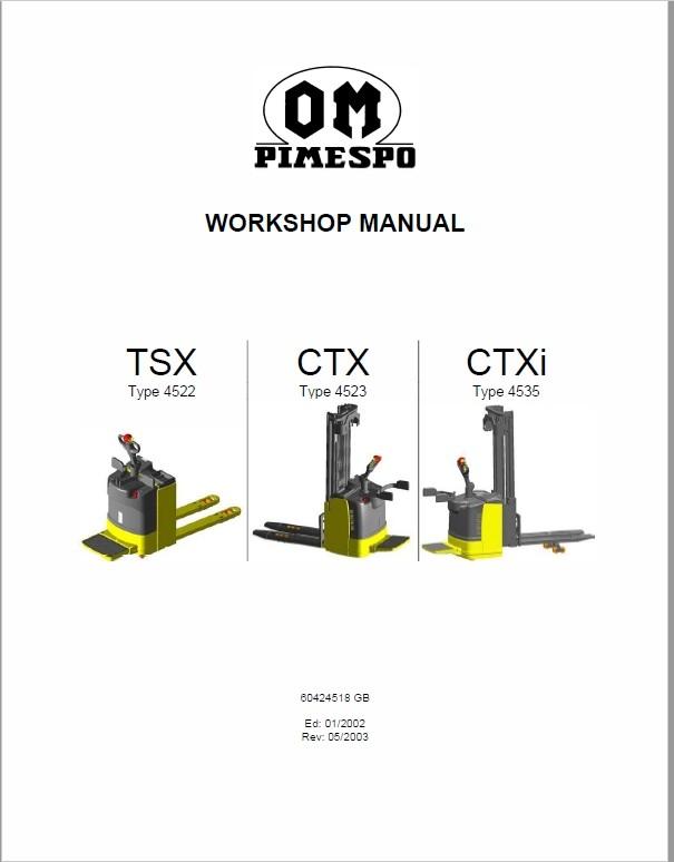 OM Pimespo TSX, CTX and CTXi Pallet Stacker Workshop R