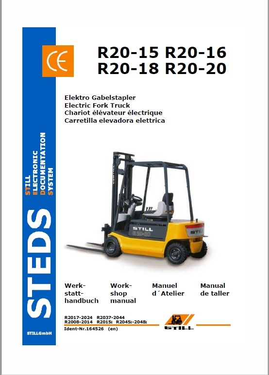 Still Electric Fork Truck R20: R20-15, R20-16, R20-17, R20-20 Repair Circuit Workshop Manual