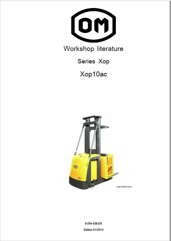 OM Pimespo XOP10 and XOP10ac Series XOP Order Picker Workshop Repair Manual