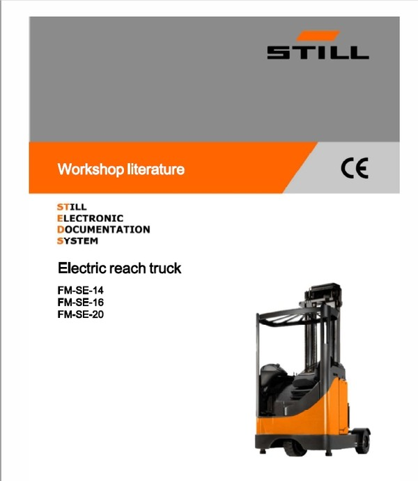 Still FMSE-14, FMSE-16, FMSE-20 Electric Reach Truck Workshop Repair Manual