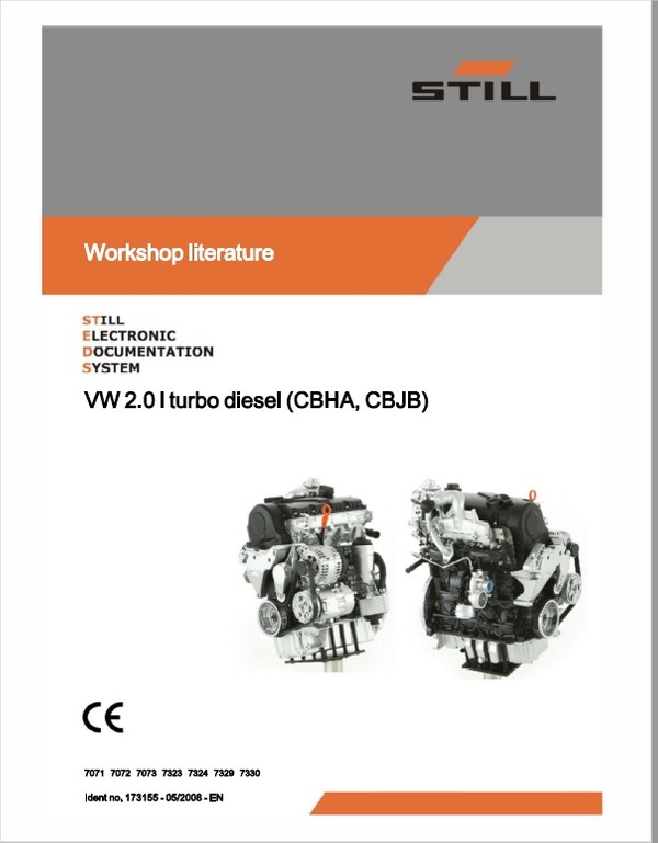 Still Engine VW 2.0i Turbo Diesel (CBHA, CBJB) Workshop Repair Manual