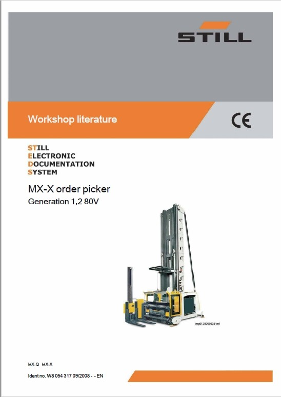Still MX-X Generation 1,2 80v Order Picker Workshop Repair Manual