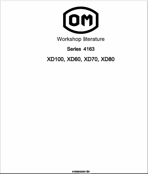 OM Pimespo XD100, XD60, XD70, XD80 Forklift Workshop Manual