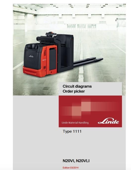 Linde Order Picker Type 1111 N20VI, N20VLI Service Training (Workshop) Manual