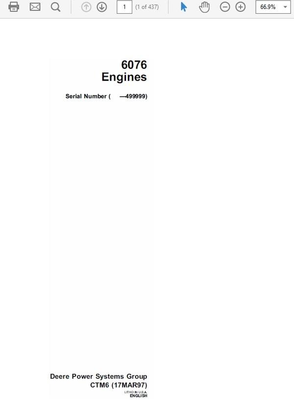 John Deere 6079 Engines CTM6 Technical Manual