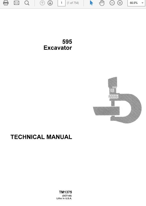 John Deere 595 Excavator Technical Manual TM-1375