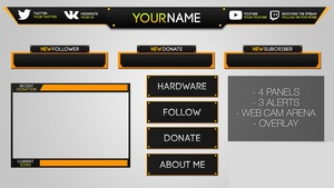 Template Twitch Pack Stream