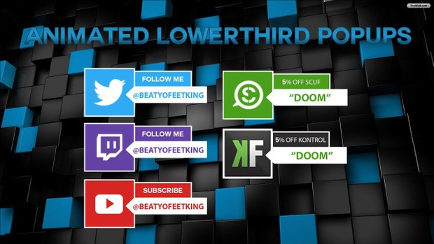 Animated Lowerthird Popup Photoshop/After Effects Template (Youtube,Twitter,Twitch)