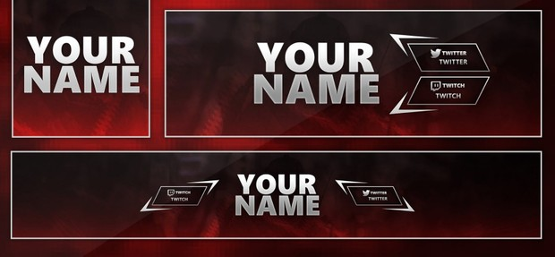 Template Pack Banner, Avatar, Twitter Header