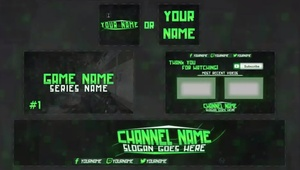 youtube art revamp (banner, avatar, outro, thumbnail) all channel art!