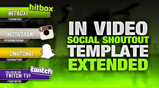 Template In Video Social Shoutouts Pack EXTENDED