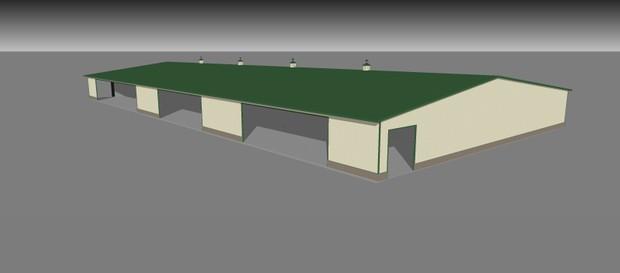Feed storage building