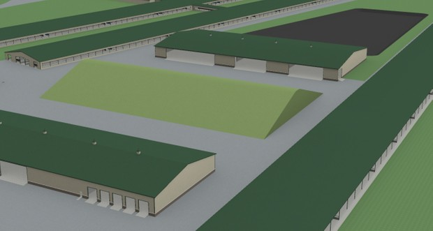 8000 head Dairy Farm + shop and feed shed