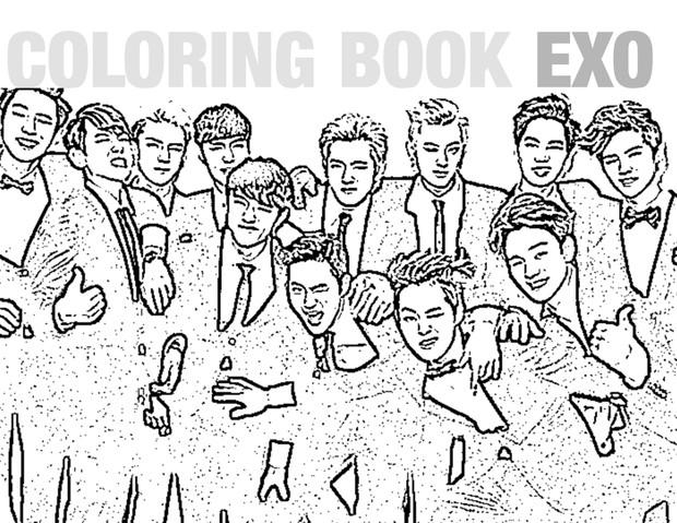 COLORING BOOK EXO