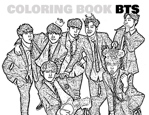 Coloring Book Kpop BTS