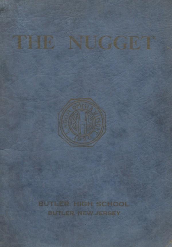 1920 Butler, N.J. High School Yearbook - Digital Download