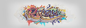 Crazy Effect Twitter Header C4D/PSD