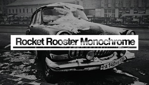 Rocket Rooster Monochrome