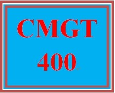 CMGT 400 Week 4 Disaster Recovery and Business Continuity Plan