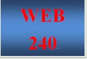 WEB 240 Week 5 Individual Virtual Organization Project, Final Evaluation Project