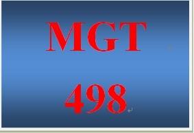 MGT 498 Week 2 Learning Team Weekly Reflection