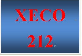 XECO 212 Week 6 Money