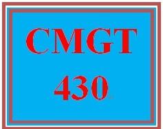 CMGT 430 Week 4 Cloud Computing