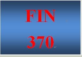 FIN 370 Week 4 Cash Flow Analysis