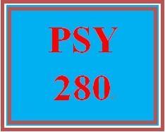 PSY 280 Week 5 Week Five Quiz