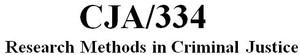 CJA 334 Week 1 Individual Research Process & Terminology