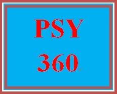 PSY 360 Week 5 Quiz