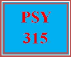 PSY 315 Week 1 Learning Team Charter