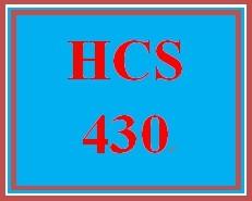 HCS 430 Wk 1 Discussion Board