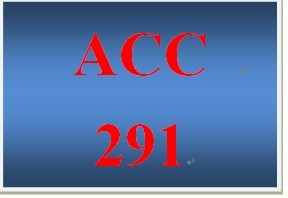 ACC 291 Week 1 Revenue and Capital Expenditures - For Discussion