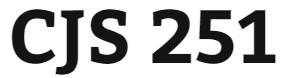 CJS 251 Week 1 Quiz