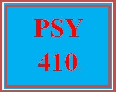 PSY 410 Week 1 Week One Assignment Worksheet