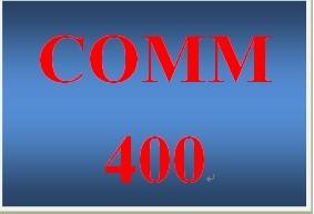 COMM 400 Week 4 Communications Journal Entry 3 – Medium Versus Message