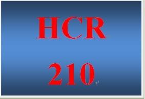 HCR 210 Week 7 Internet Databases